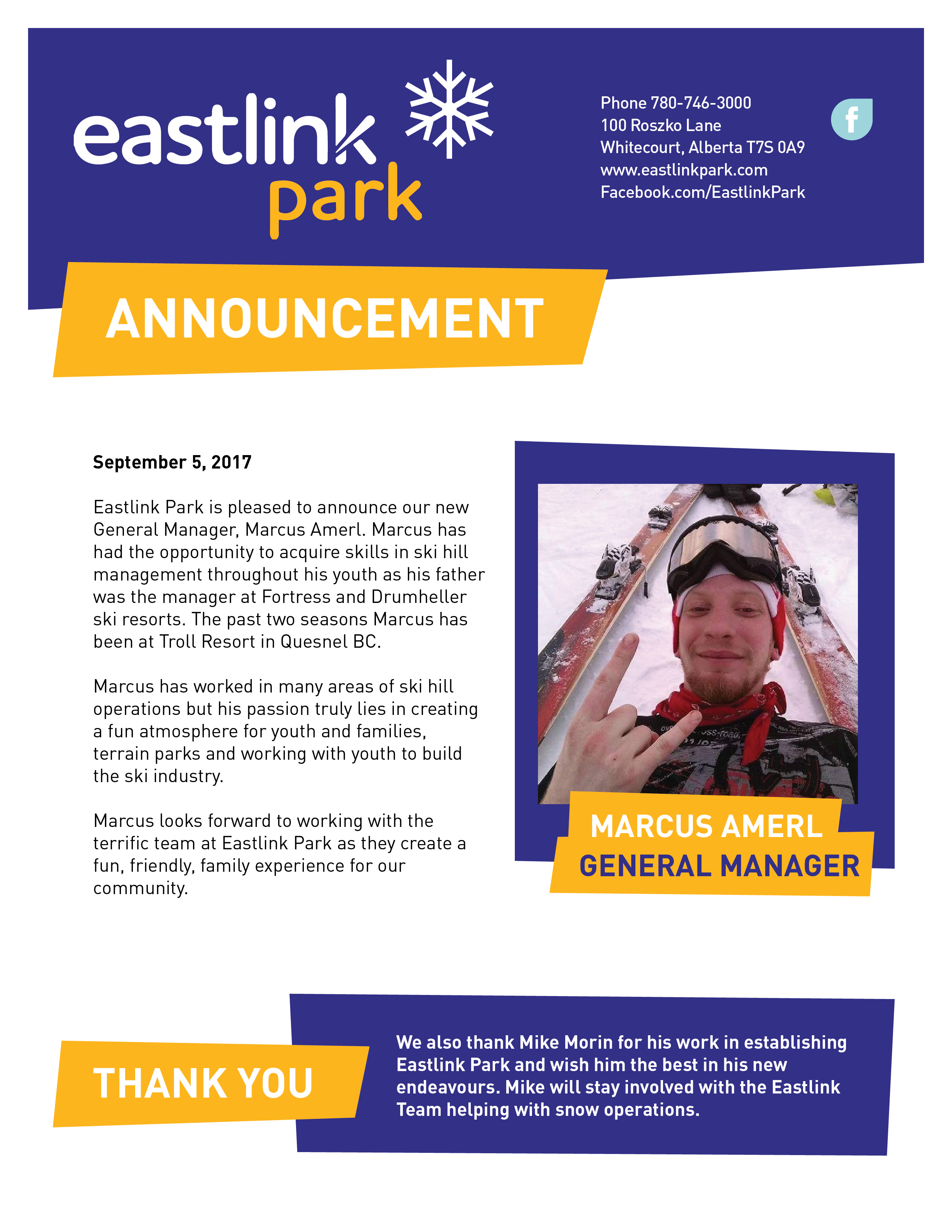 Welcome Marcus Eastlink Park 116 likes · 1 talking about this. eastlink park